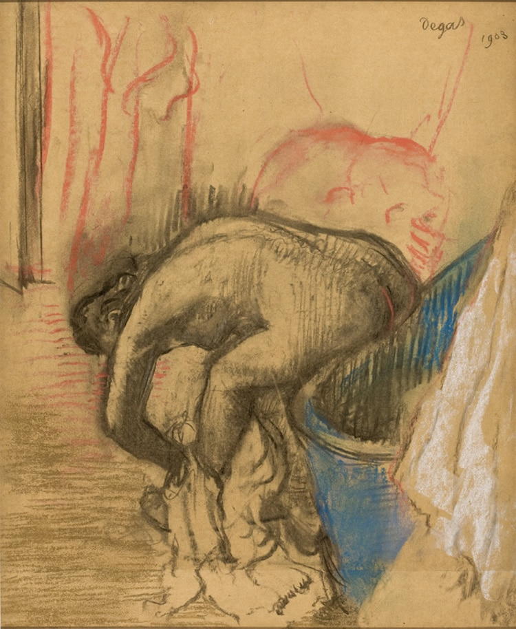 Figure Drawing by Degas