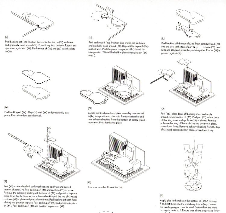 Instructions for Guggenheim Museum Scale Model Kit of Frank Lloyd Wright Projects