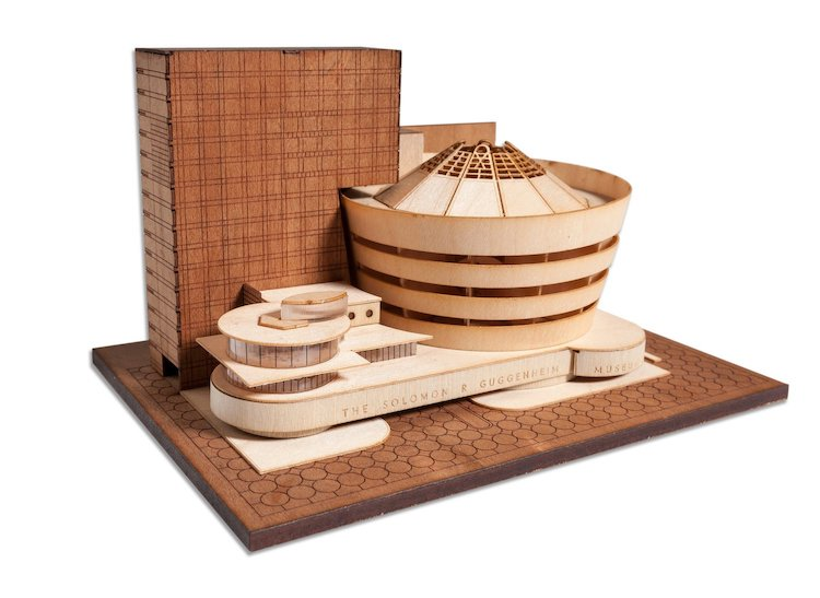Guggenheim Museum Scale Model Kit of Frank Lloyd Wright Projects