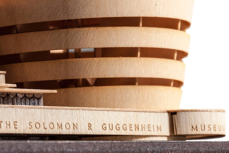 Detail of Guggenheim Museum Scale Model Kit of Frank Lloyd Wright Projects