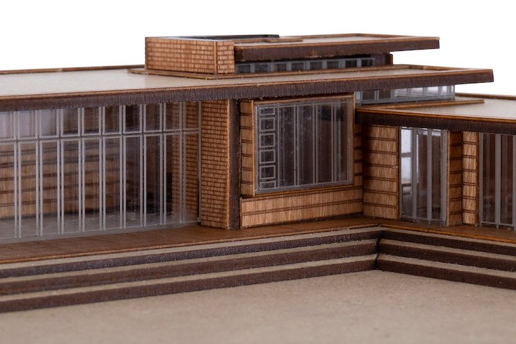 Usonian House Scale Model Kit of Frank Lloyd Wright Projects