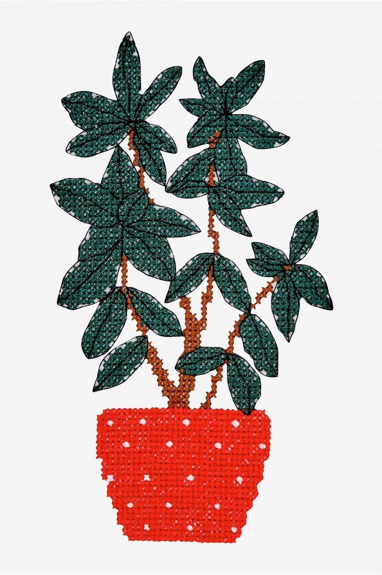 Cross stitch pattern without plants