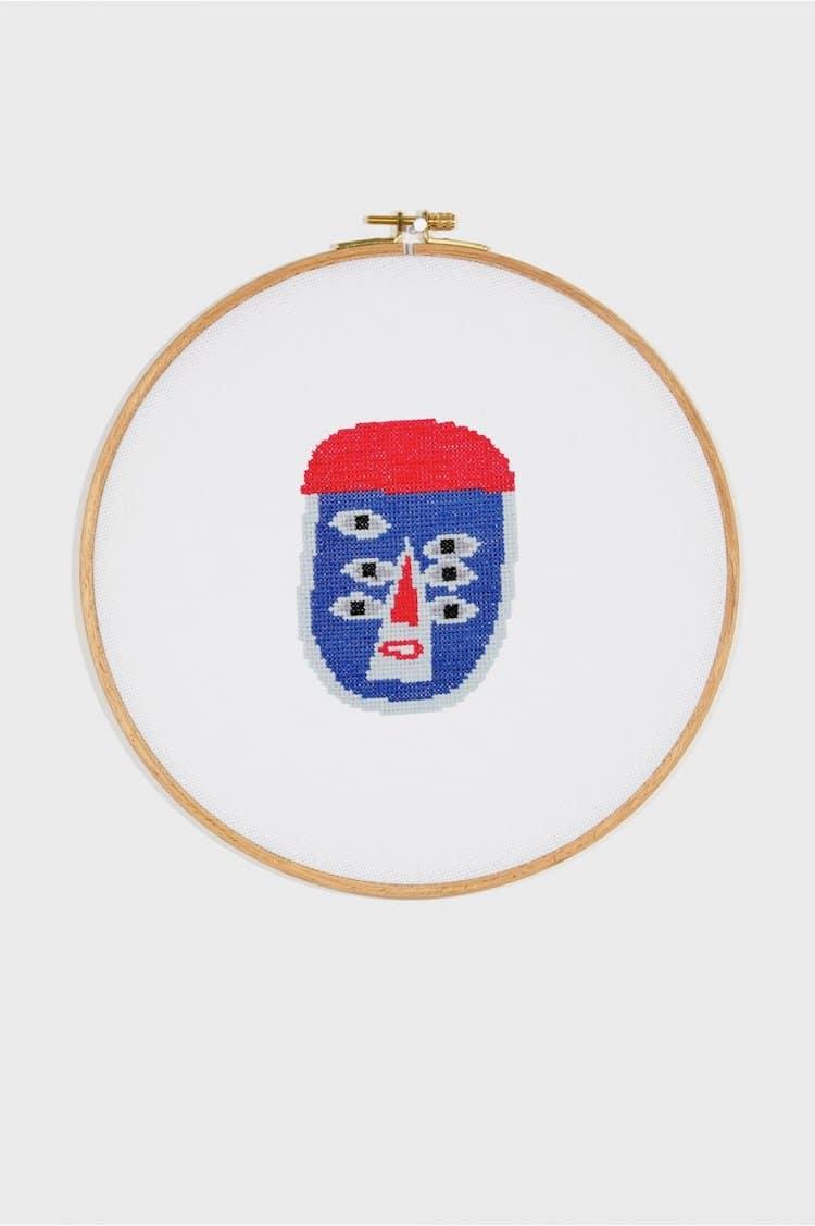 Face cross stitch pattern
