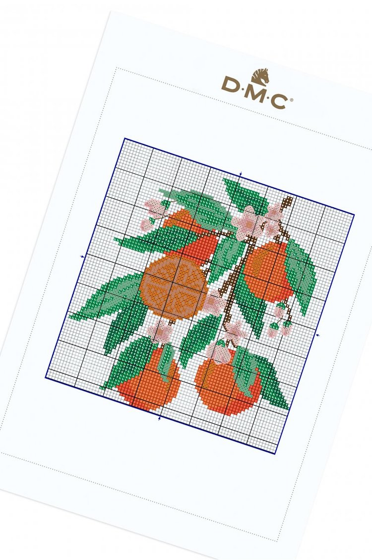 Free cross stitch pattern oranges