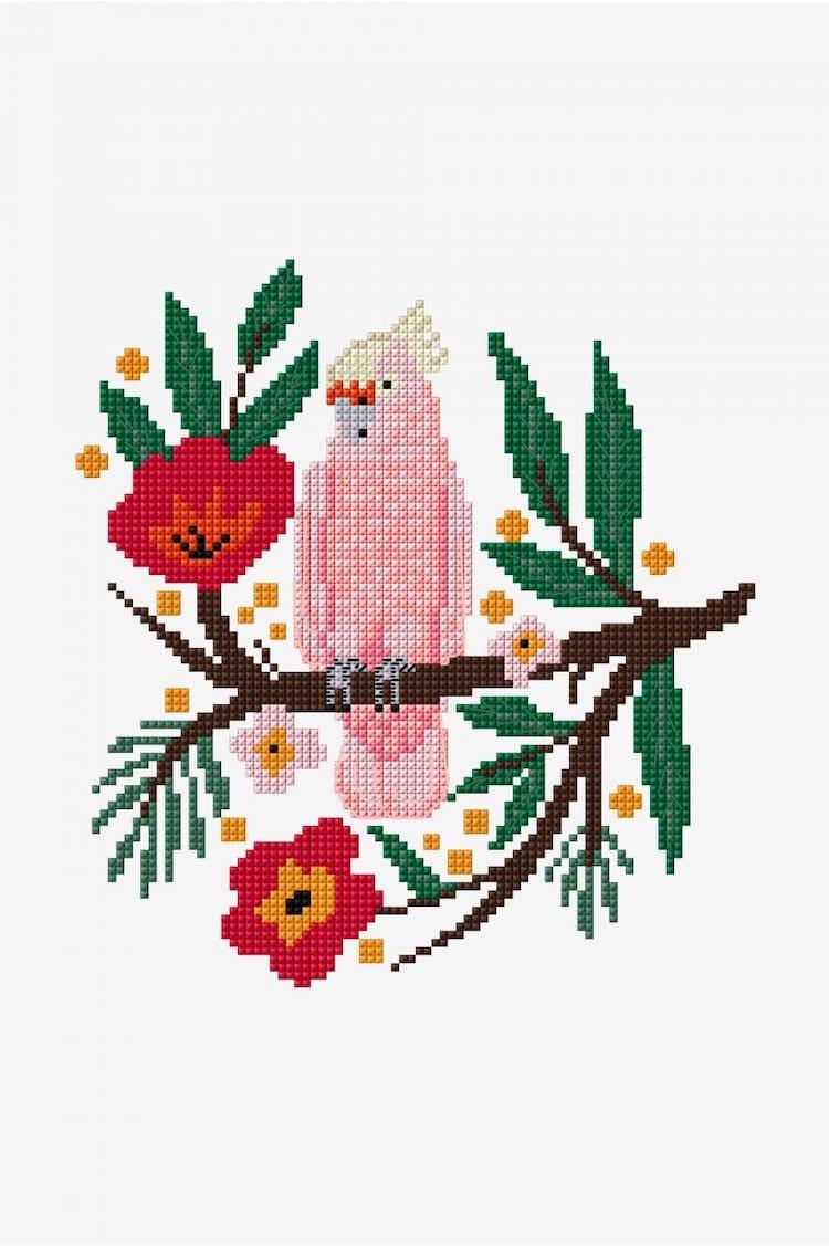 Bird cross stitch pattern