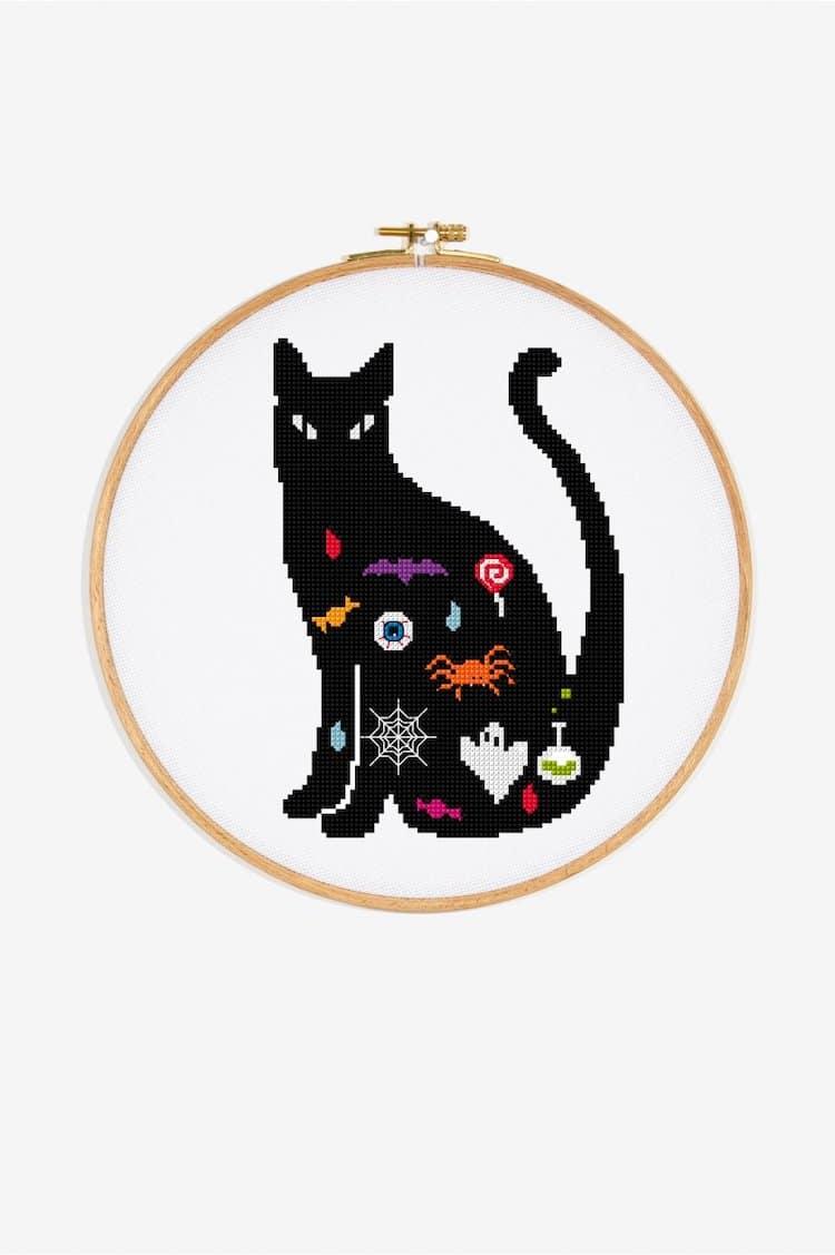 Cross stitch pattern without cat