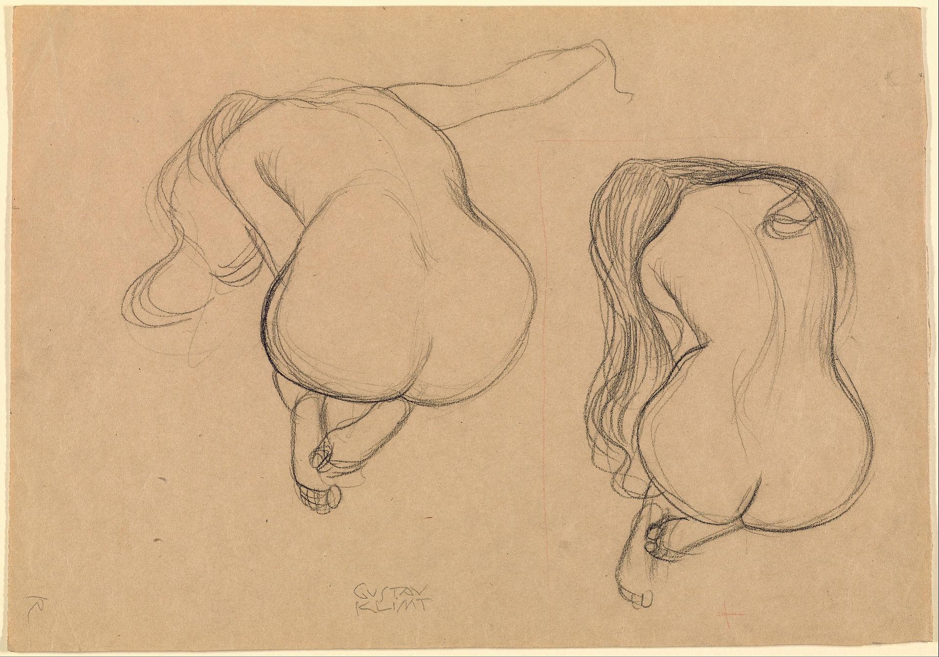 Figure Drawing by Gustav Klimt