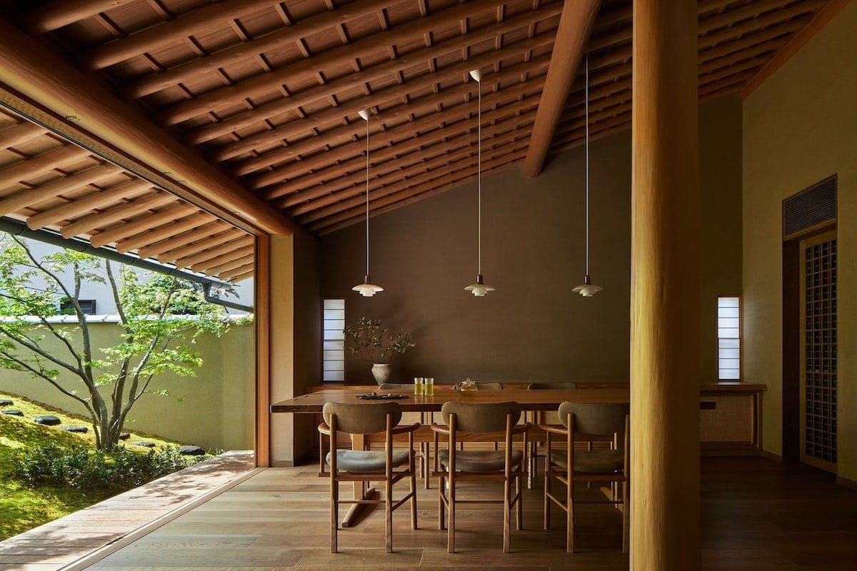 Interior of the House of the Sacred Rock by Hiroshi Nakamura & NAP in Kyoto, Japan