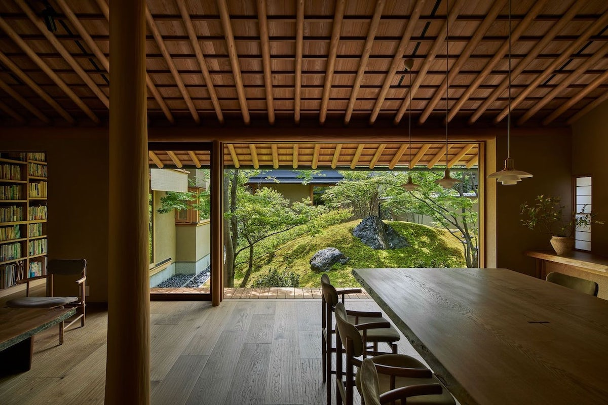 Looking Out of the House of the Sacred Rock by Hiroshi Nakamura & NAP in Kyoto, Japan