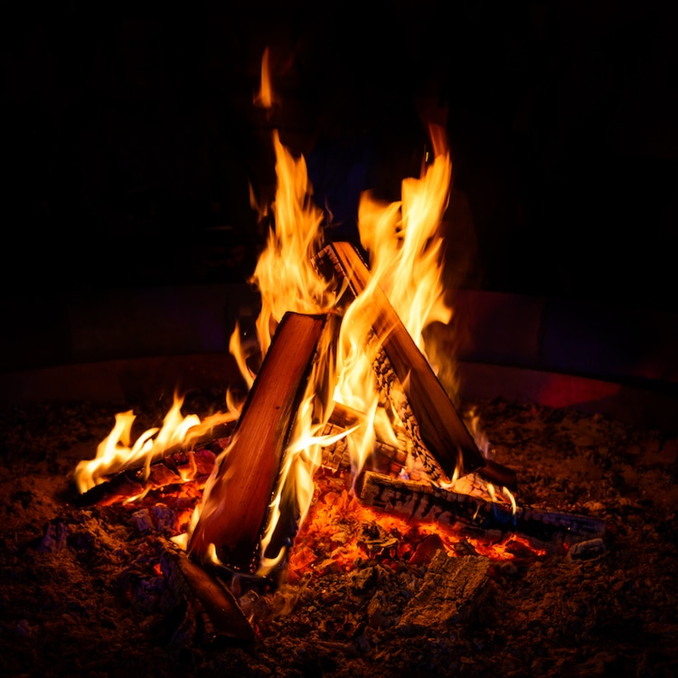 Photograph of a Campfire