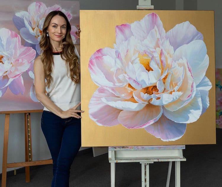 Flower Oil Paintings by Ira Volkova