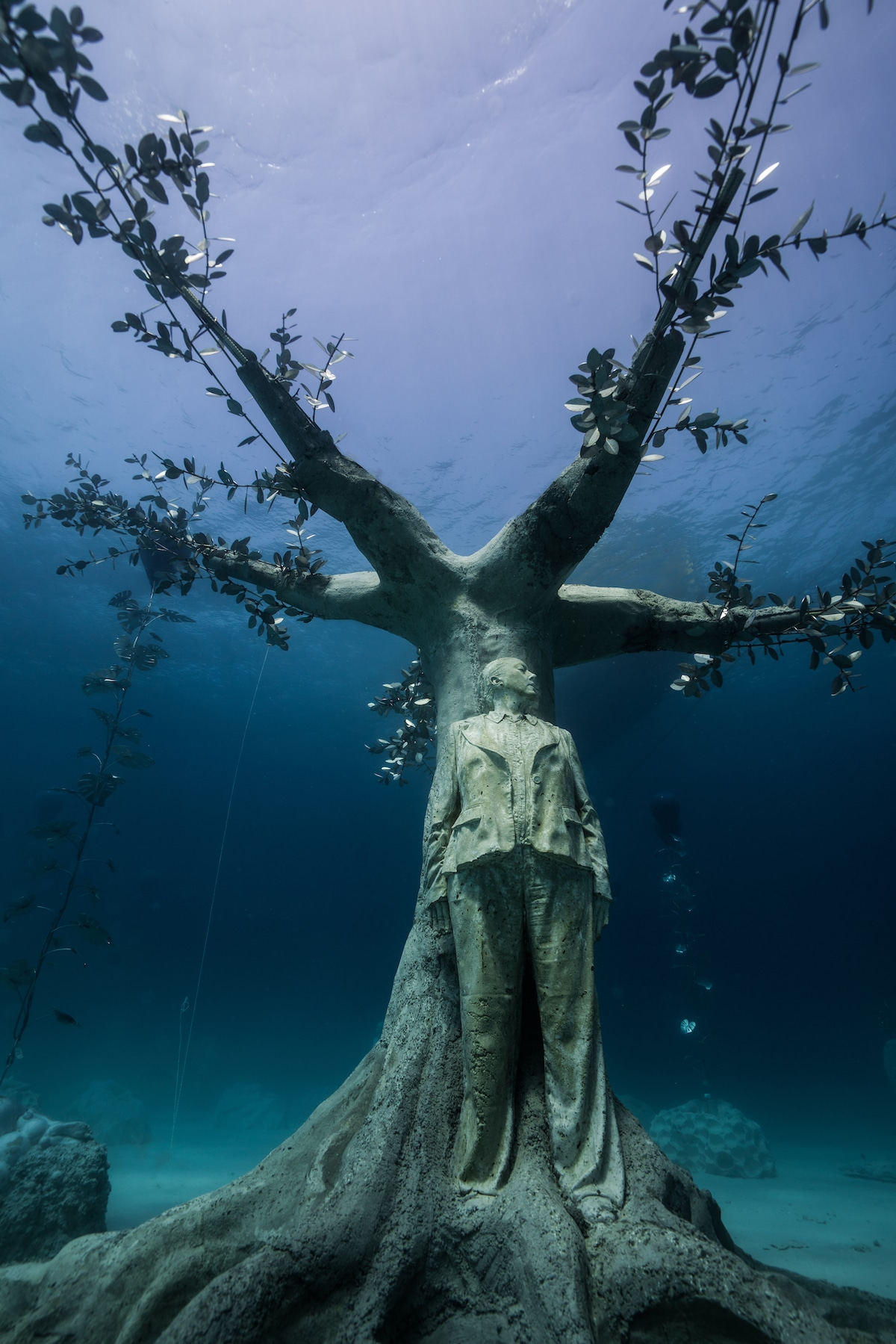 Sculpture by Jason deCaires Taylor, MUSAN, the first underwater museum in the Mediterranean