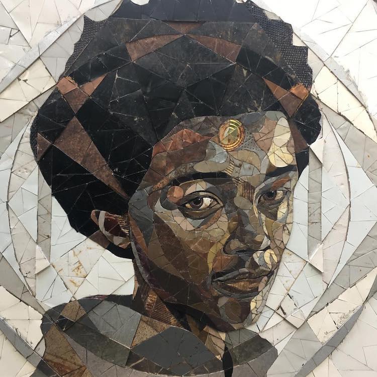 Matt Small portrait en mosaïque