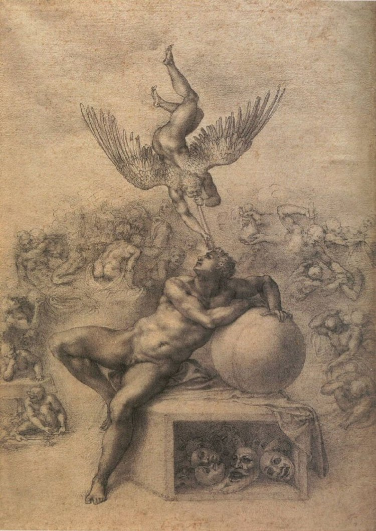 Figure Drawing by Michelangelo