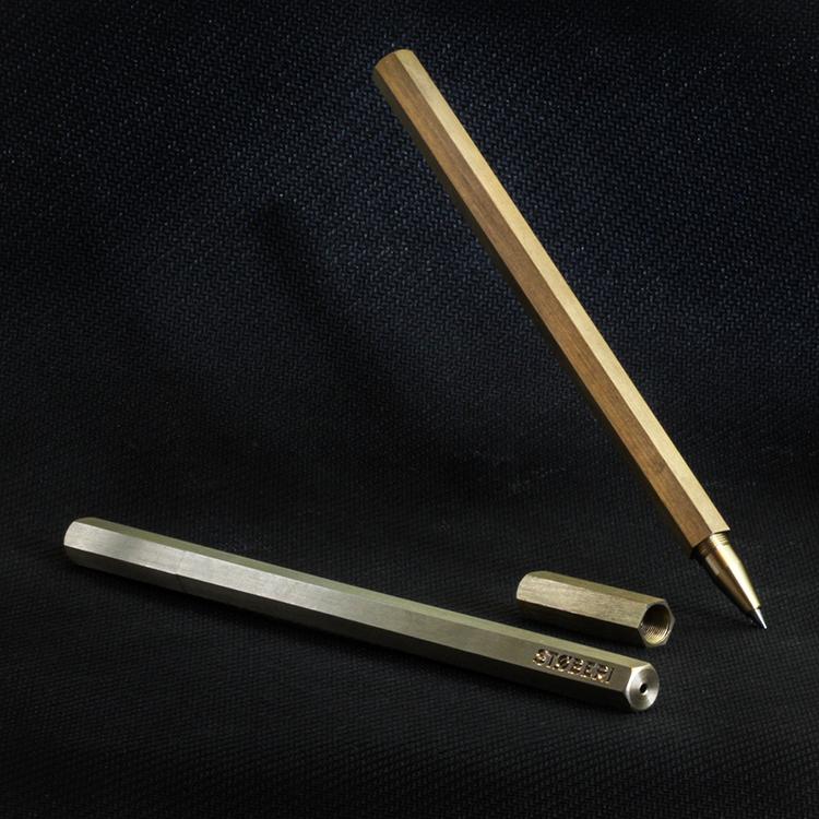 Hexagonal brass Pen