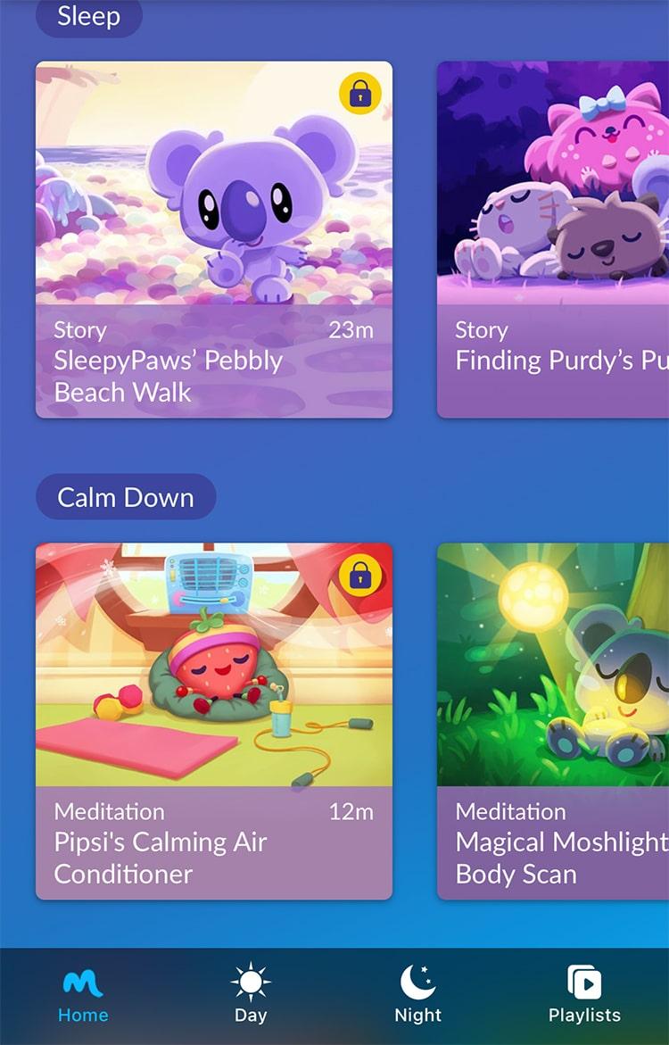 Moshi Kids Sleep and Meditation App with Bedtime Stories
