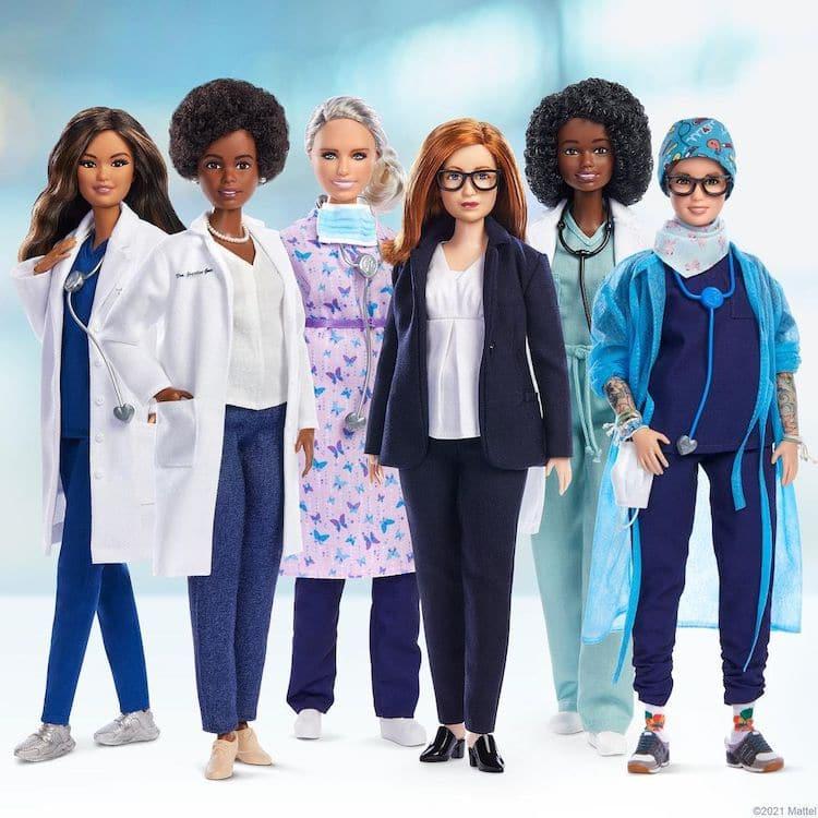 Barbie Dolls Covid-19 Pandemic Women Heroes