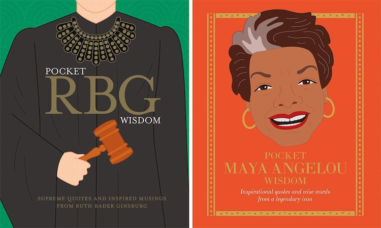 RBG Quotes Book and Maya Angelou Quotes Book