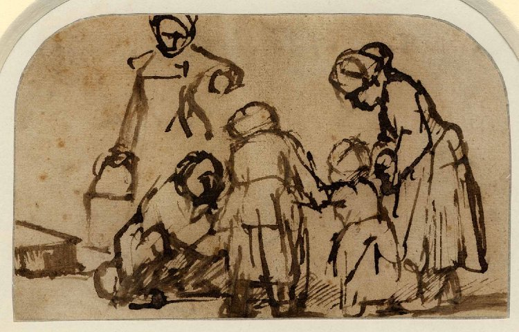 Figure Drawing by Rembrandt