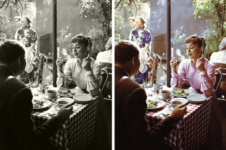 fotografías antiguas en blanco y negro a color