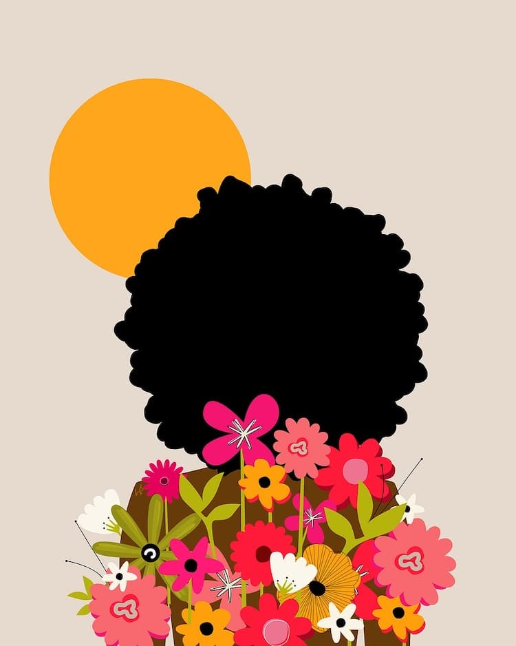 She Is This Floral Digital Illustrations