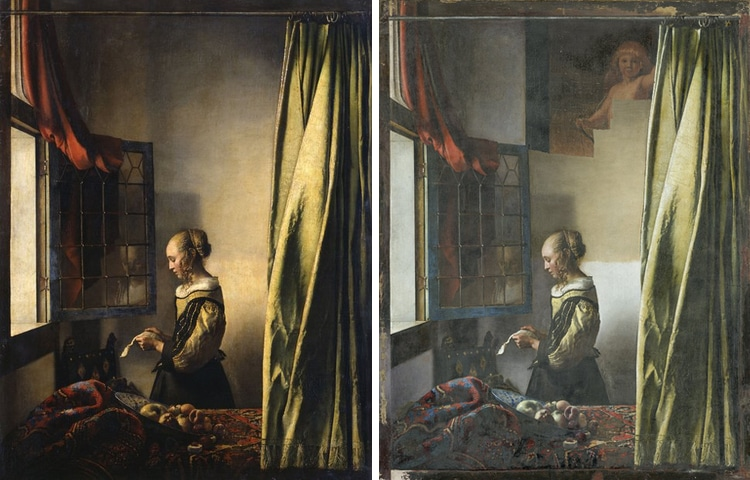 Dresden Vermeer Painting Before and During Restoration