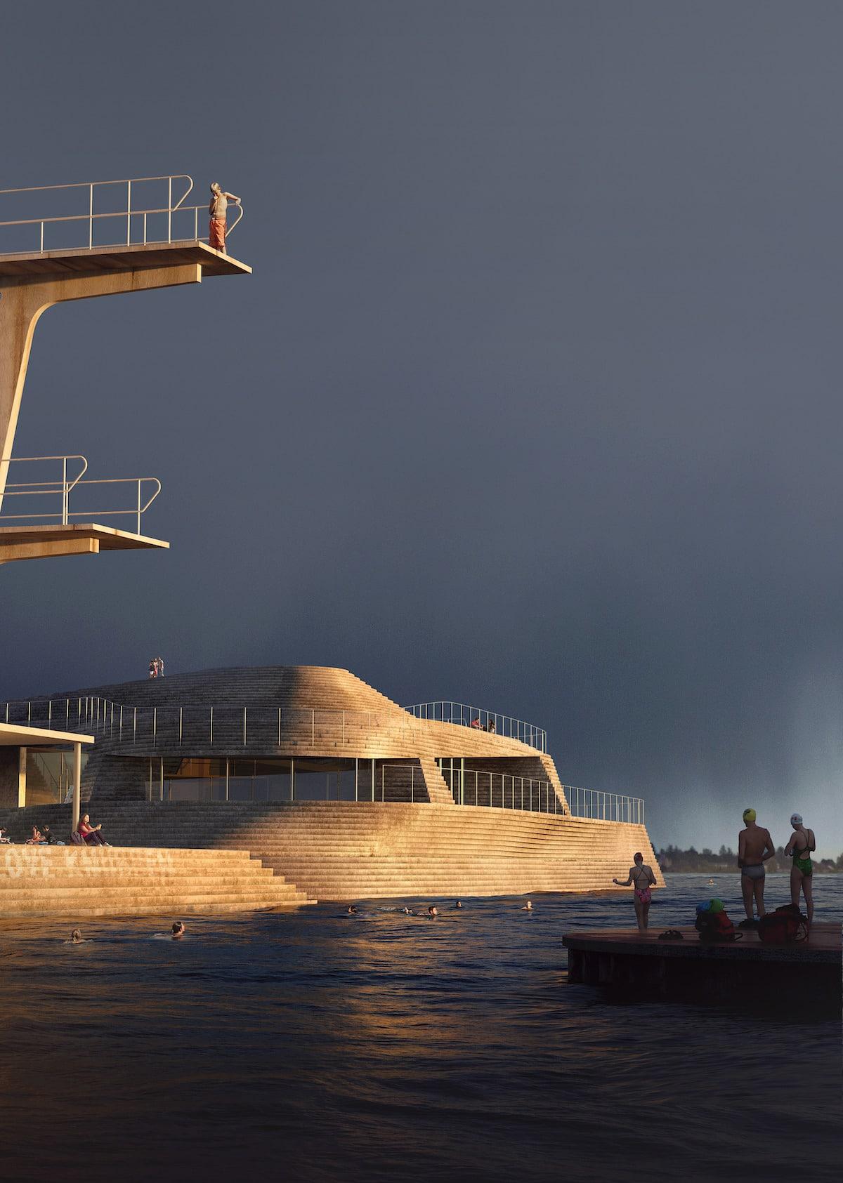 Knubben Harbor Bath Redesign by Snøhetta