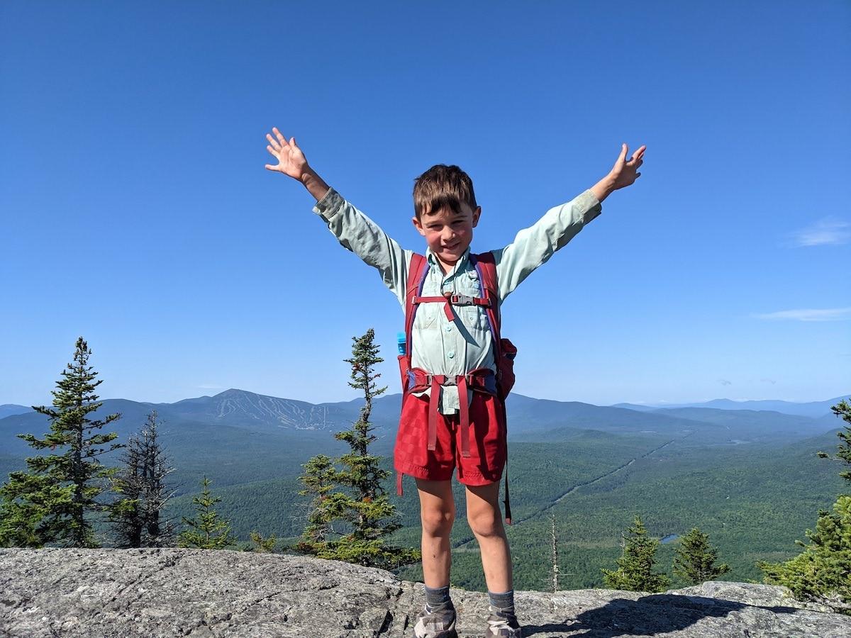 Harvey Sutton Finishing the Appalachian Trail