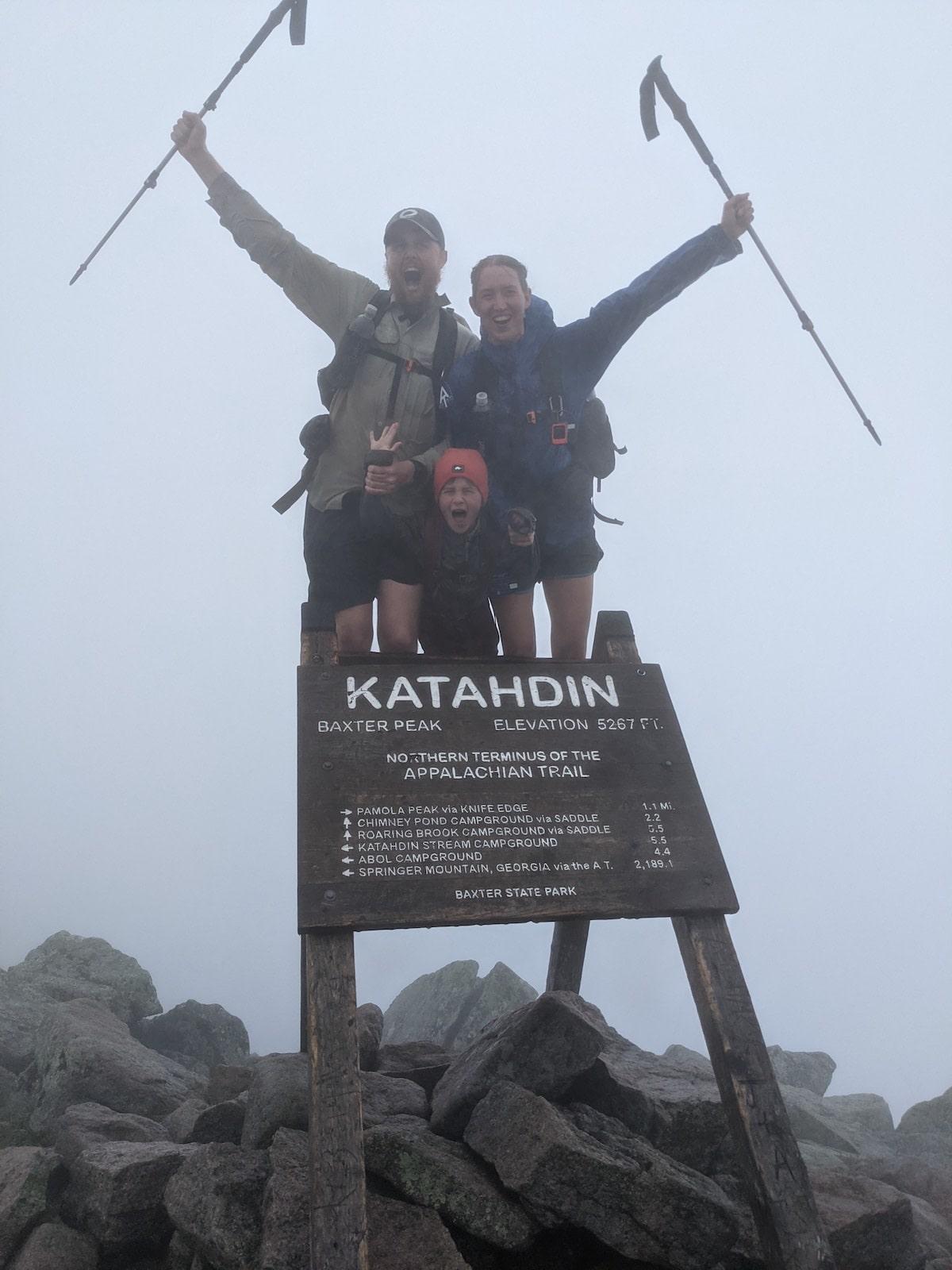 Sutton Family Finishing the Appalachian Trail