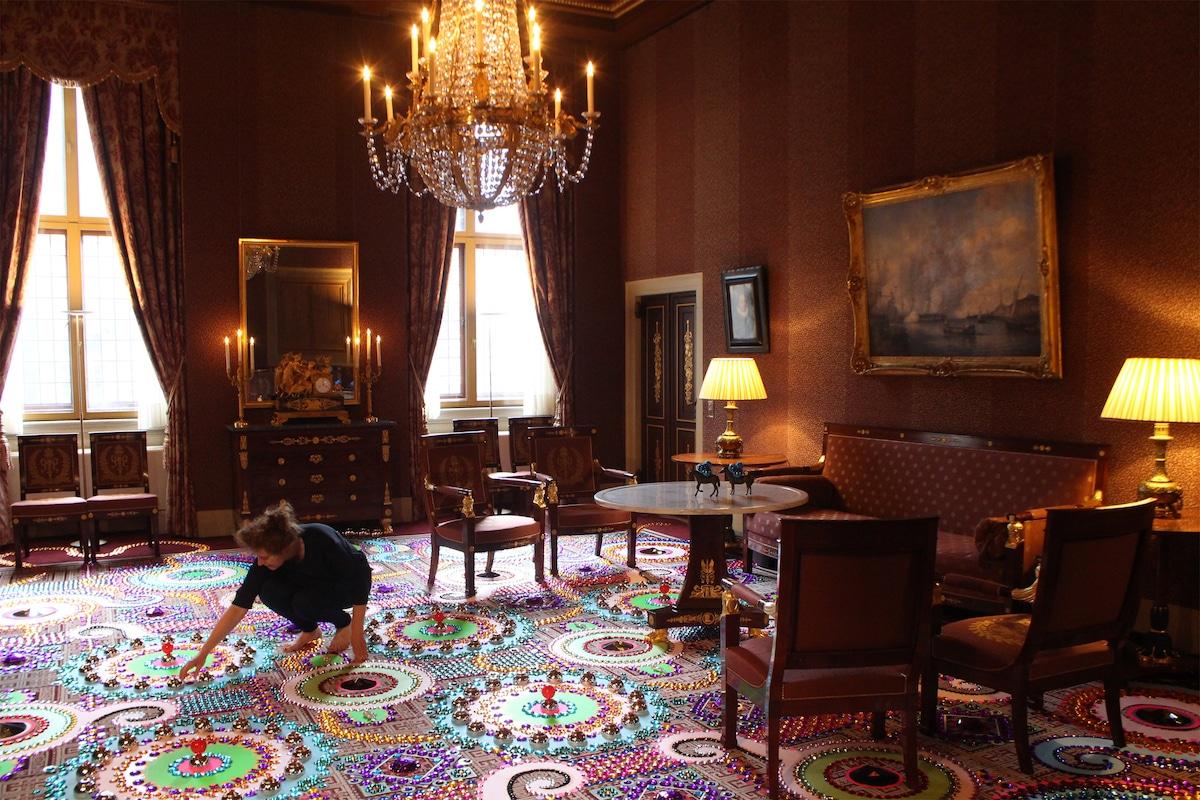 Carpet Gem Art Installation by Suzan Drummen