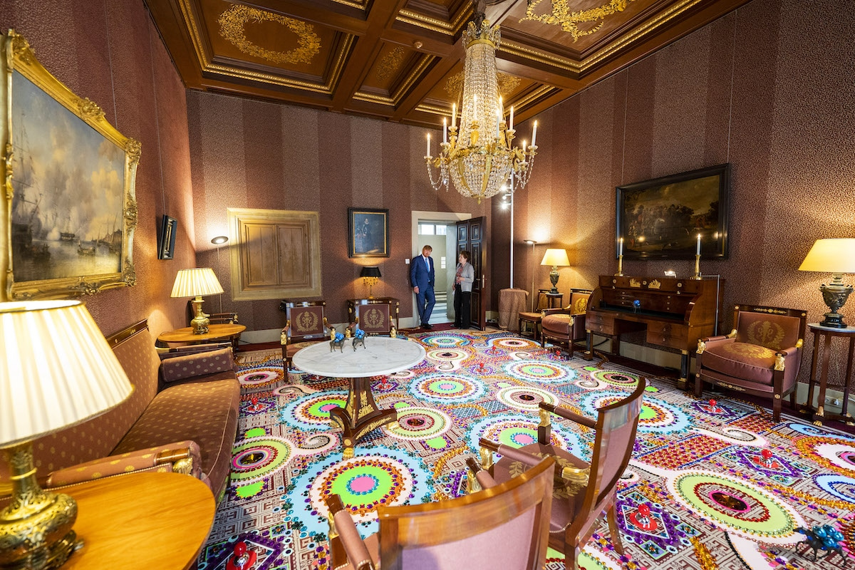 Jewel Carpet Installation Art at the Royal Palace in Amsterdam