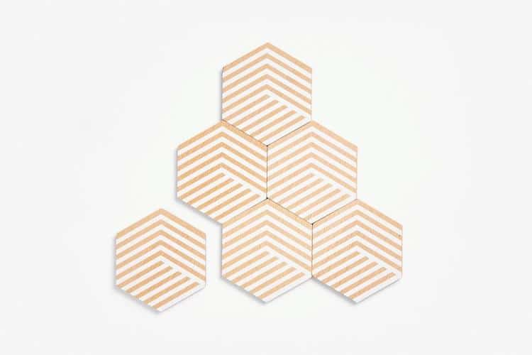 Optic Table Tiles by Bower Studios