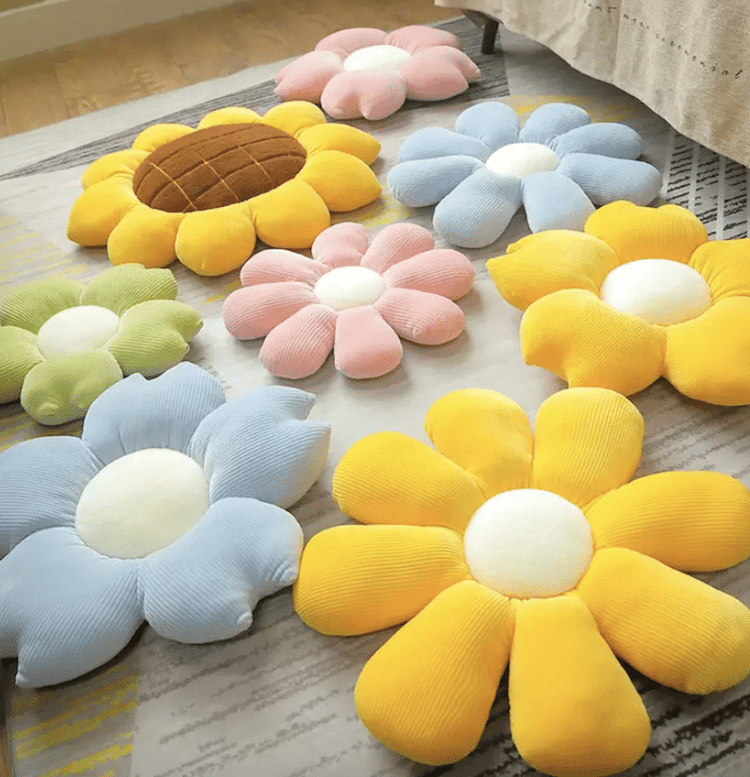 Flower Petal Plush Throw Pillow (Multiple Styles and Sizes)