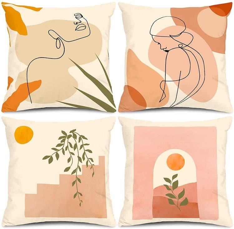 Abstract Minimalist Throw Pillows