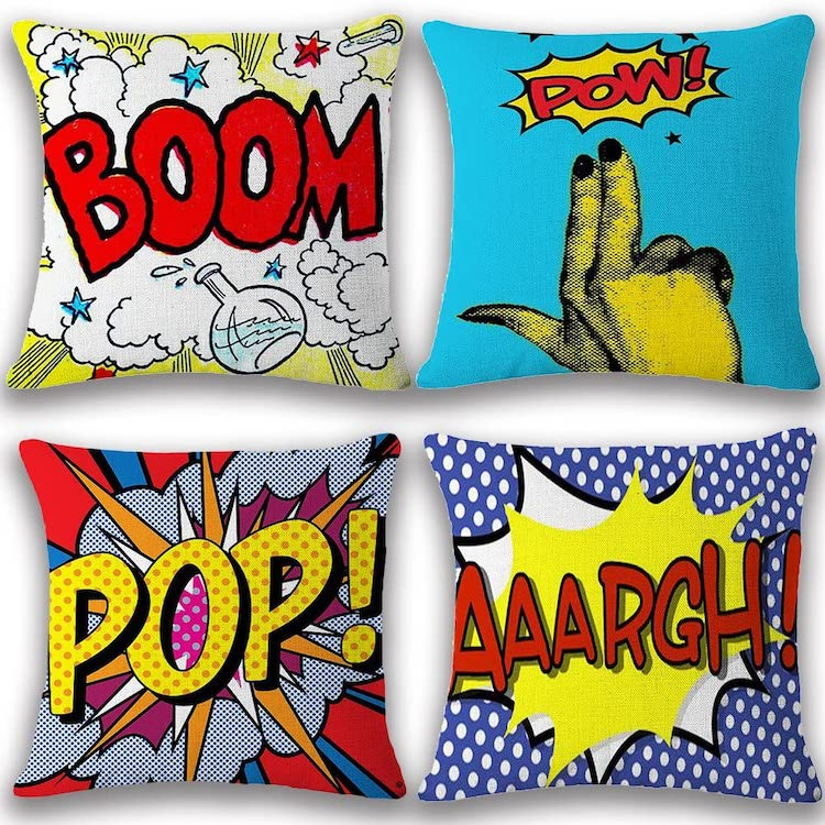Cartoon Inspired Throw Pillow Covers (Multiple Styles)