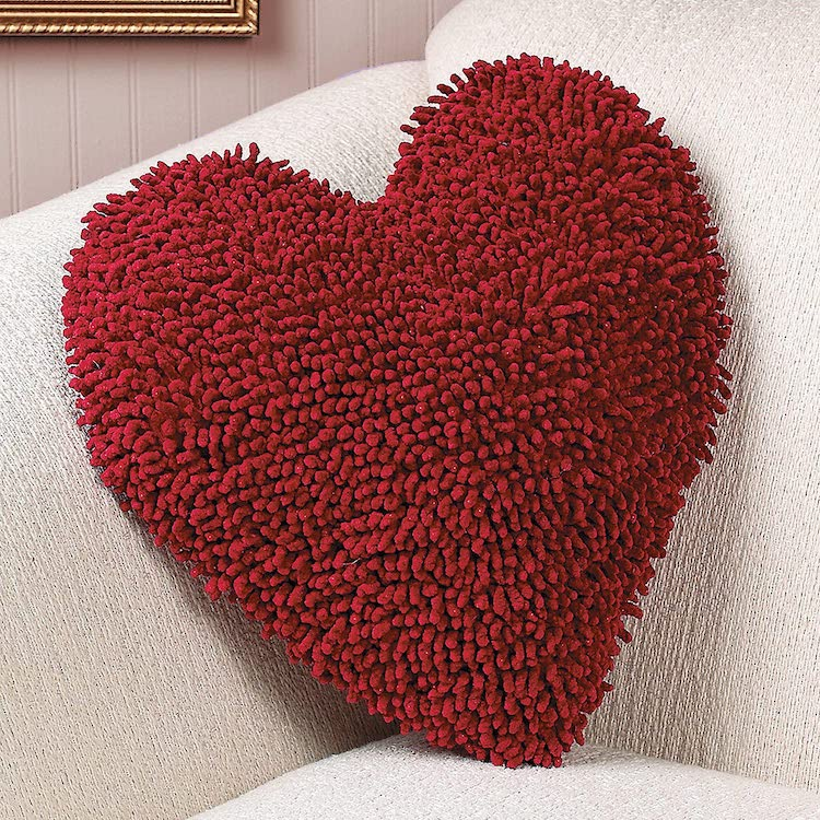 Red Heart-Shaped Pillow