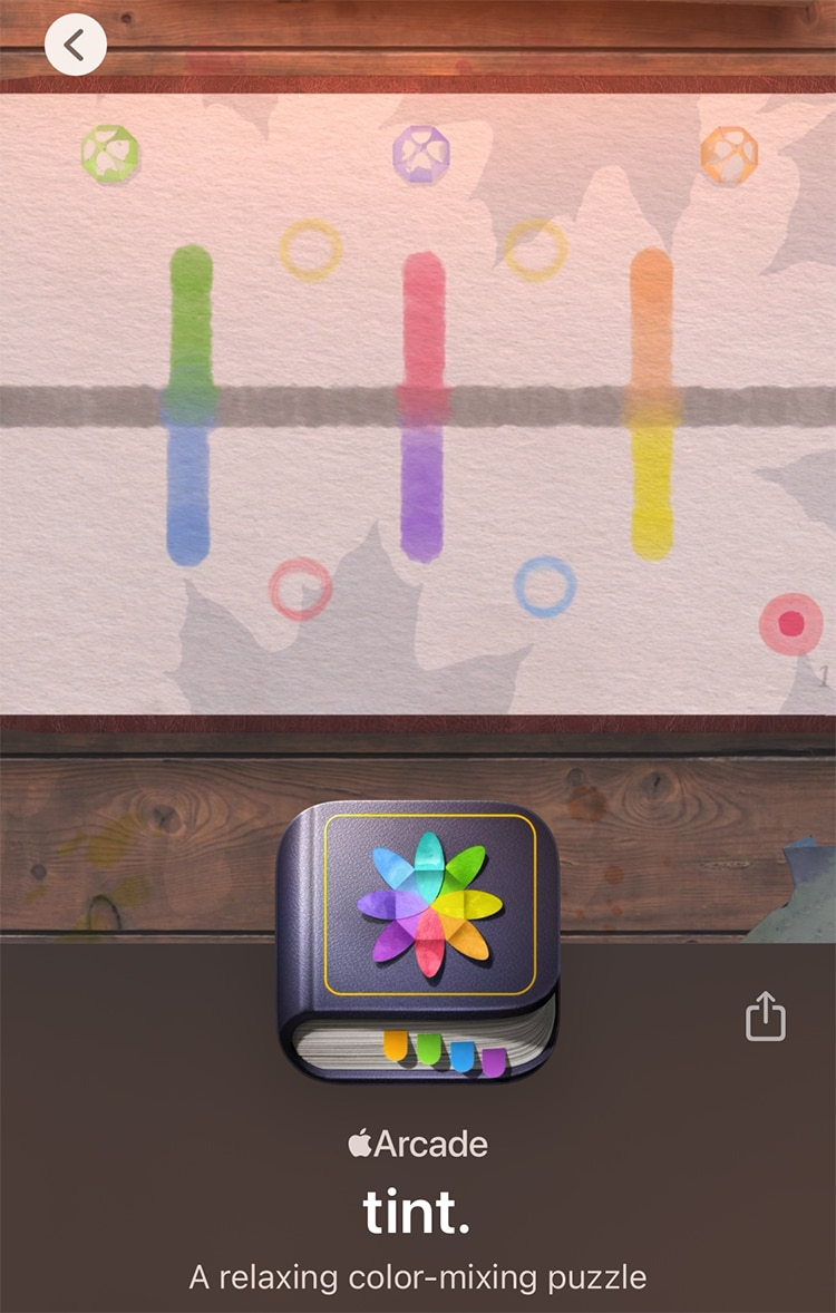 Tint Apple Arcade Color Mixing Game