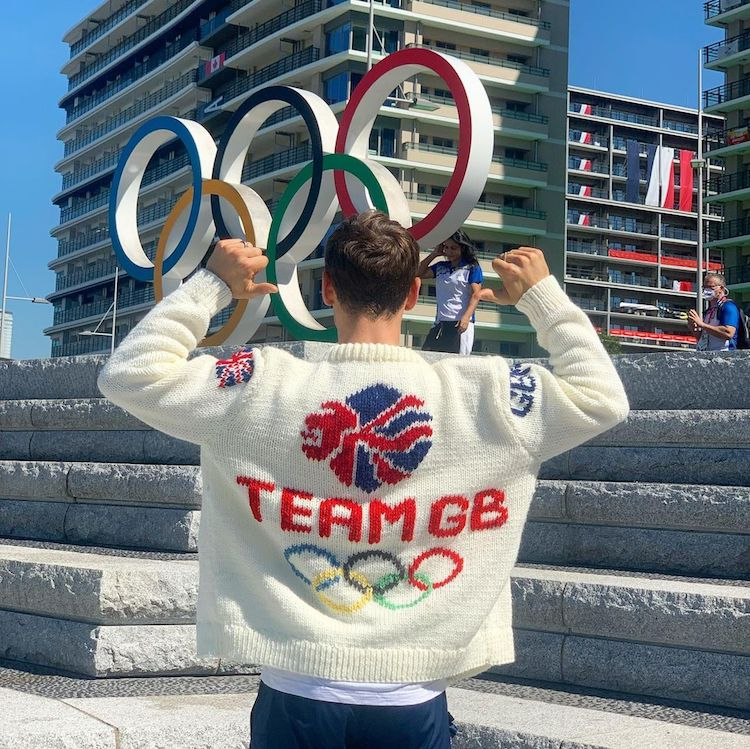 Tom Daley Completes Olympic Knitted Cardigan