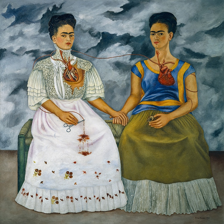 Two paintings by Fridas Frida Kahlo