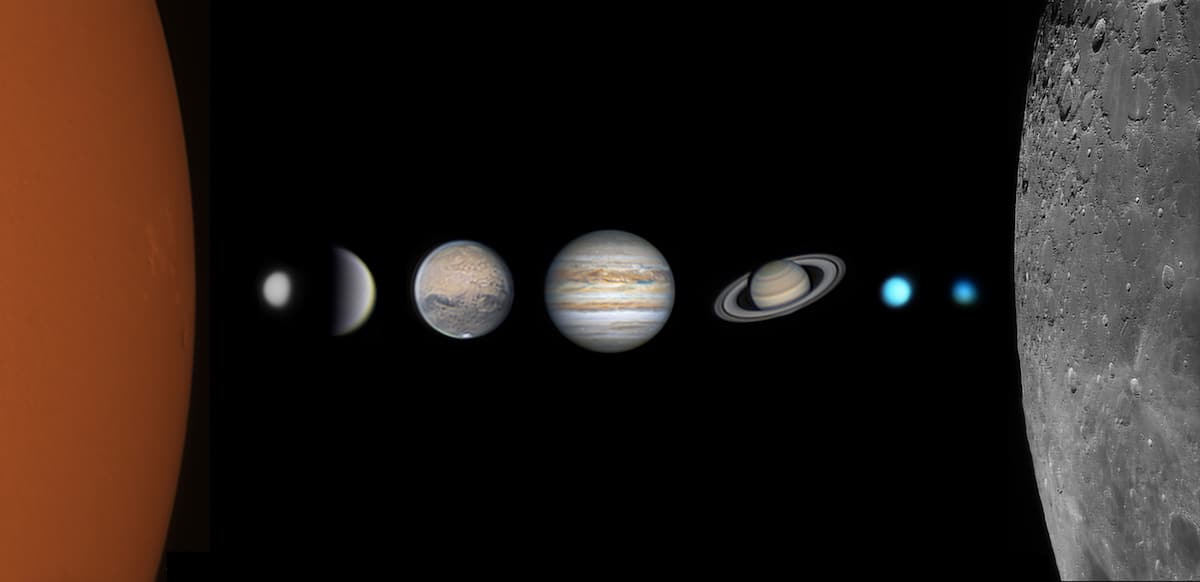 Foto del sistema solar sin la Tierra