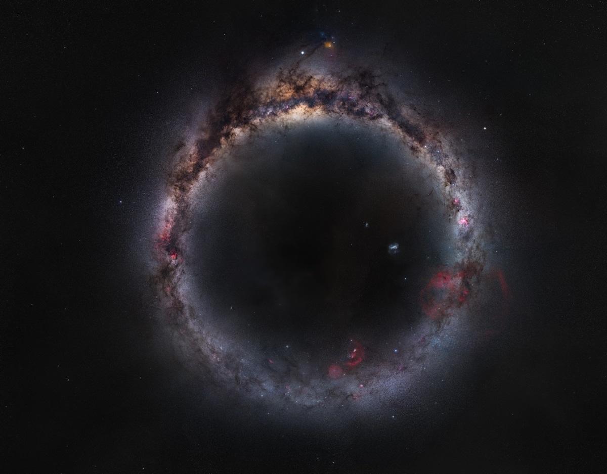 Foto panorámica de la galaxia visible