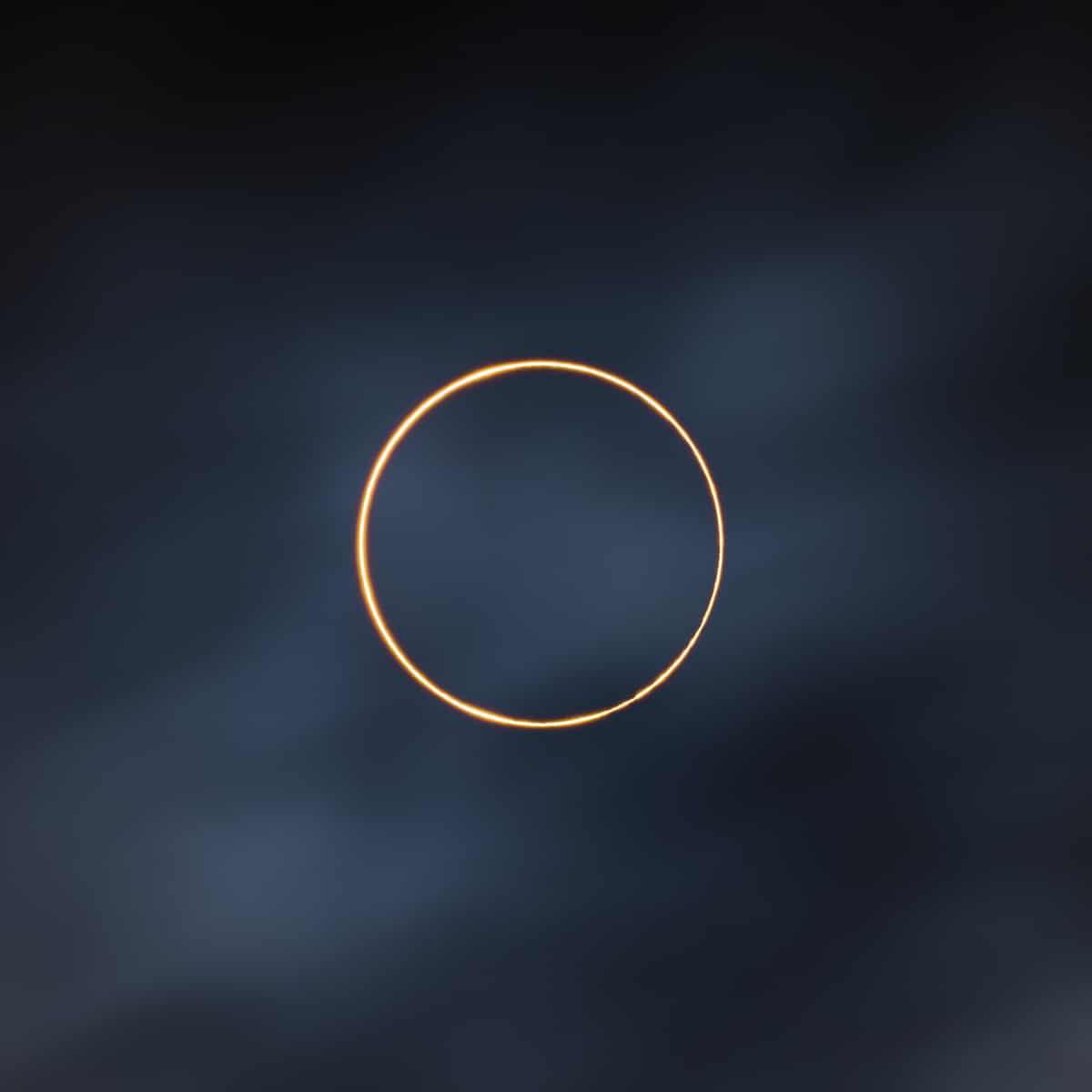 Eclipse solar anular en Tíbet