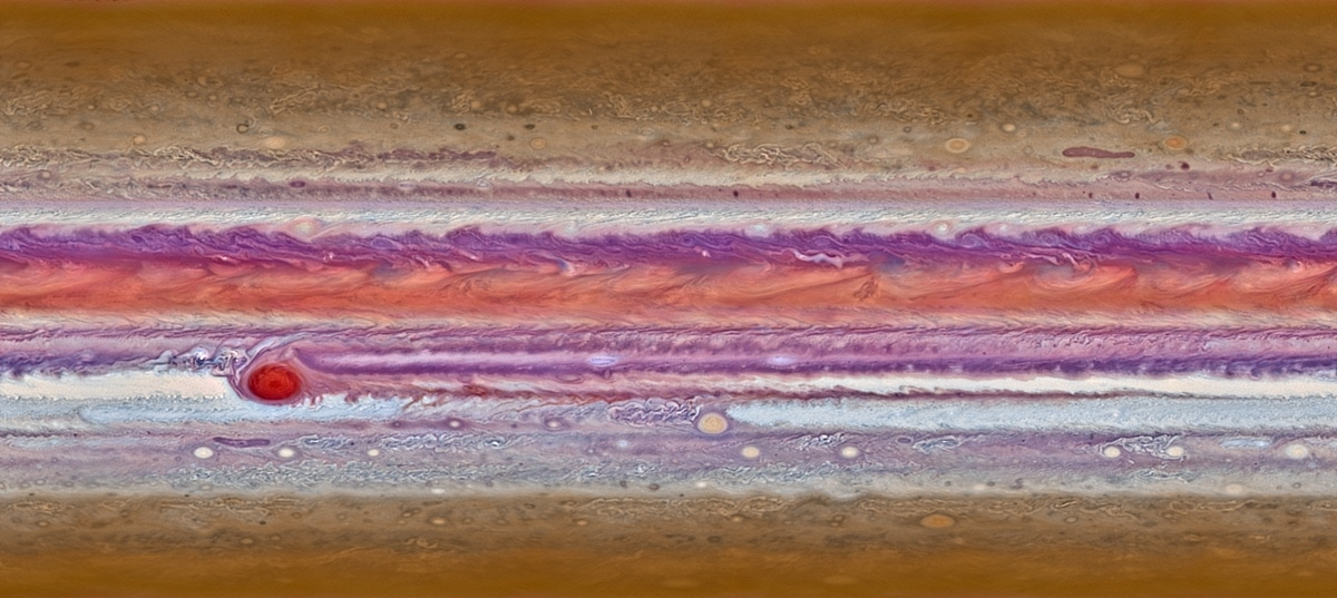 Acercamiento a las nubes de Júpiter