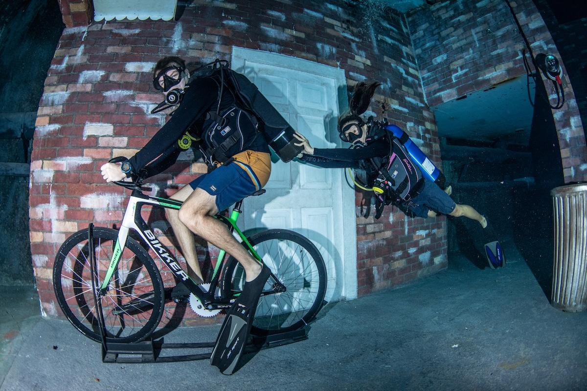 cyclisme sous l'eau