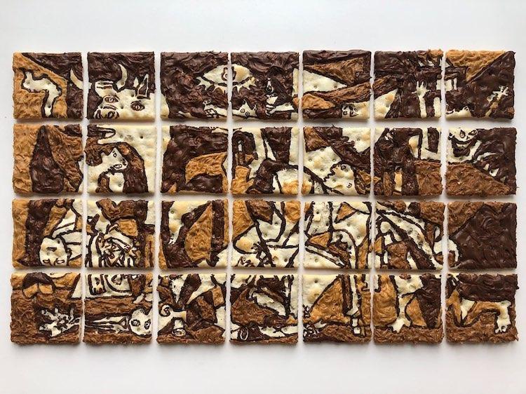 Famous Artwork Arrangements by Adam Hillman