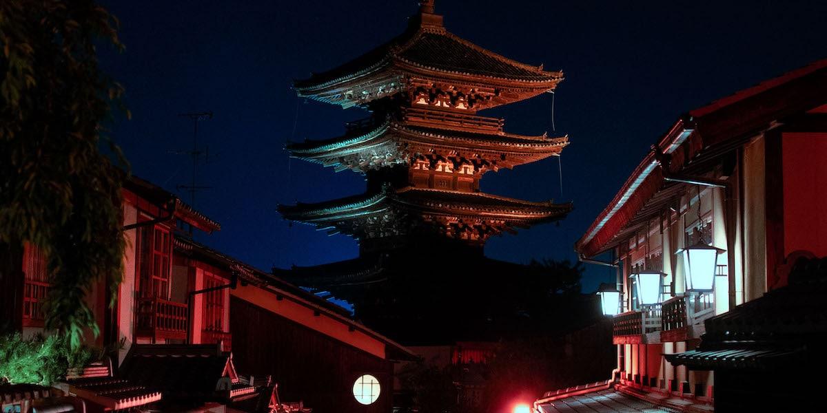 Pagoda at Night by Liam Wong