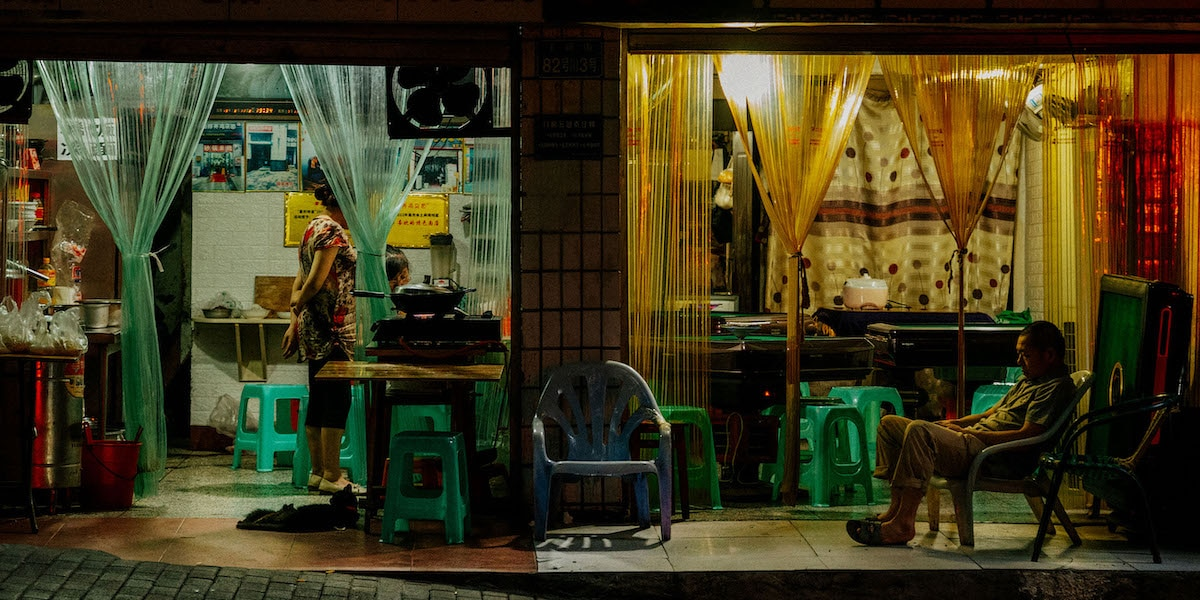 People in a Shop Window by Liam Wong