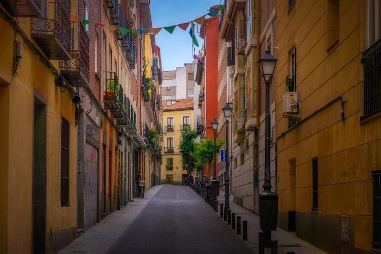 Small Street in Madrid, Spain