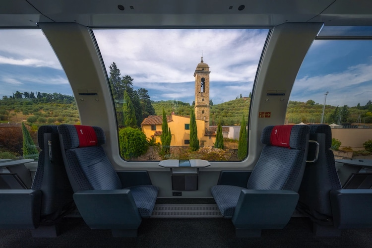 View of European Countryside from Train