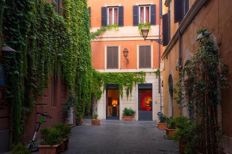Quiet Street in Rome, Italy